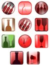 Wine icons illstration representing a set of about world Stock Images