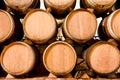 Wine keg barrels Royalty Free Stock Image