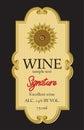 Wine label design Royalty Free Stock Photo