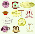 Wine labels Royalty Free Stock Images