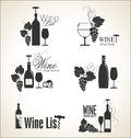 Wine labels collection illustration Royalty Free Stock Photos