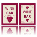 Wine labels new on a white background Stock Photo
