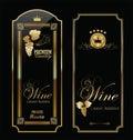 Wine labels retro illustration Stock Photography