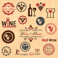 Wine labels set elegant vector collection Stock Photos