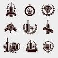 Wine labels set vector illustration Royalty Free Stock Photo