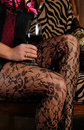 Wine and legs Royalty Free Stock Image