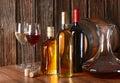 Wine and liquor Royalty Free Stock Photo