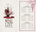 Wine list Stock Photo