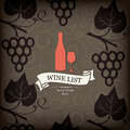 Wine list design Stock Photo