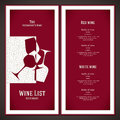 Wine list design Royalty Free Stock Photo