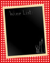 Wine list on gingham Stock Images