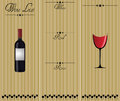 Wine list illustration of white red and rose Royalty Free Stock Image