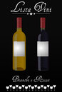 Wine list italian Royalty Free Stock Photo