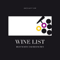 Wine list menu card design template Royalty Free Stock Photos