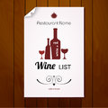 Wine list menu. Red and white Royalty Free Stock Photo