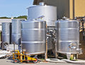 Wine Making Equipment on Long Island Stock Images