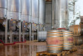 Wine manufacturing modern winery tanks Stock Photography