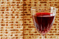 Wine and Matzah Stock Photos