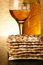 Wine and matzoh Royalty Free Stock Photo