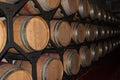 Wine oak barrels Royalty Free Stock Photo
