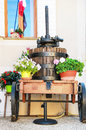 Wine-press in Provence village, France Royalty Free Stock Photo