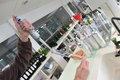 Wine quality control testing in laboratory Royalty Free Stock Photo