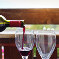 Wine red in the restaurant Royalty Free Stock Images