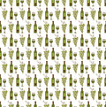 Wine seamless pattern Royalty Free Stock Photo
