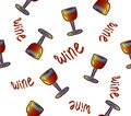 stock image of  Wine seamless pattern. Wine glasses. conceptual colorful alcohol drinks repeating background for web and print purpose.