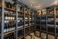 stock image of  Wine shelf
