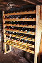 Wine shelves Royalty Free Stock Photos
