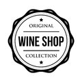 Wine shop logo vintage isolated label Royalty Free Stock Photo