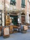 WINE SHOP, MONTEROSSO AL MARE, CINQUE TERRE, ITALY Royalty Free Stock Photo