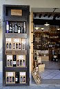 Wine shop in Tuscany, Italy Royalty Free Stock Photo