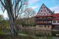 Wine Store with Pegnitz River in Nuremberg Royalty Free Stock Photo