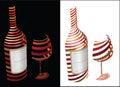 Wine symbol idea Royalty Free Stock Photo