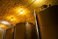 Wine Tanks in an Old Winery Royalty Free Stock Photo
