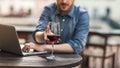 Wine tasting at the bar Royalty Free Stock Photo