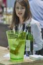 Wine tasting during the festival ukrainian polyana wino fest in in kiev ukraine Stock Image