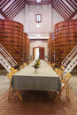 Wine tasting room huge barrels california wine region usa Royalty Free Stock Photography