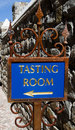 Wine tasting room sign directional in famous california napa and sonoma valley Stock Image