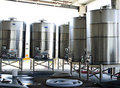 Wine Vats, California Stock Photography