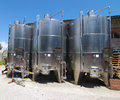 Wine vats at winery Royalty Free Stock Photo