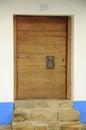 Wine vault door wooden to traditional Stock Photos