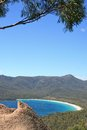 Wineglass bay the beautiful found in freycinet tasmania australia Stock Image