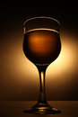 Wineglass with beverage silhouette of one wine glass drink Stock Photos