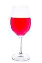 Wineglass with diluted wine Royalty Free Stock Images