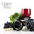 Wineglass with red wine Royalty Free Stock Images