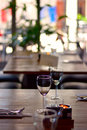 Wineglass on table Royalty Free Stock Photo