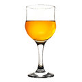 Wineglass with white wine isolated on white Stock Photography